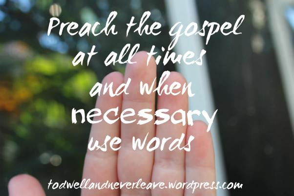 preach the gospel at all times small