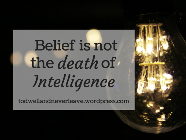 Belief is not the death of intelligence