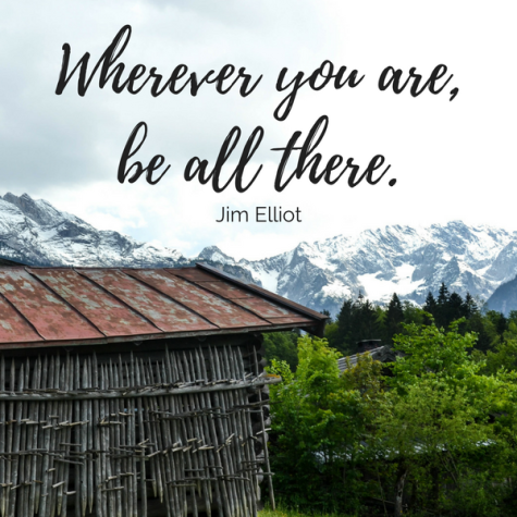 Wherever you are, be all there quote.png